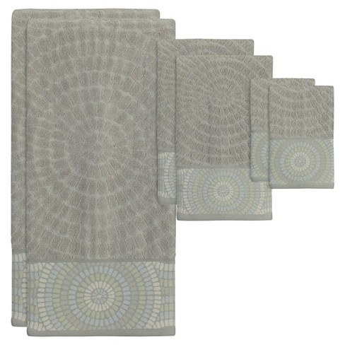 Capri Bath Towel 6pc Set Gray Heather - Creative Bath® - image 1 of 1