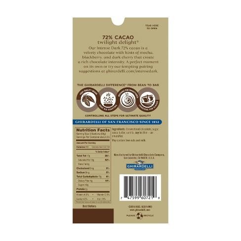 Ghirardelli Intense Dark 72% Cacao Chocolate Bar - 3 5oz