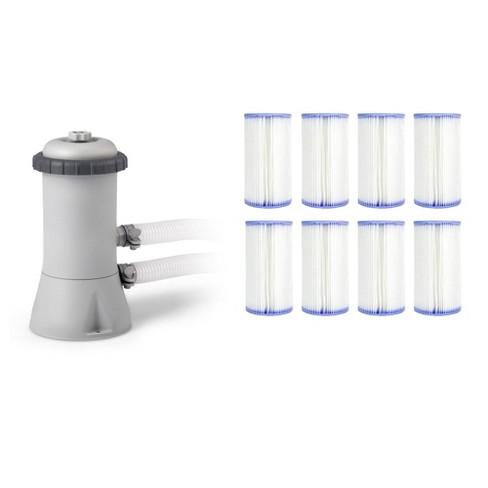 Intex Krystal Clear 530 GPH Easy Set Pool Cartridge Filter Pump + 8 Filters - image 1 of 4