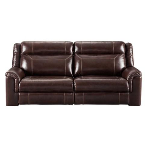 Wyline Power Reclining Sofa with Adjustable Headrest Coffee Brown -  Signature Design by Ashley