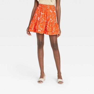 Women's Ruffle Hem Mini Skirt - Who What Wear™