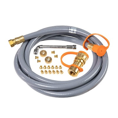 Blackstone Griddle Accessories Propane to Natural Gas Conversion Kit for Compatible Outdoor Griddles, Grills, Tailgaters, and More, 10ft Hose
