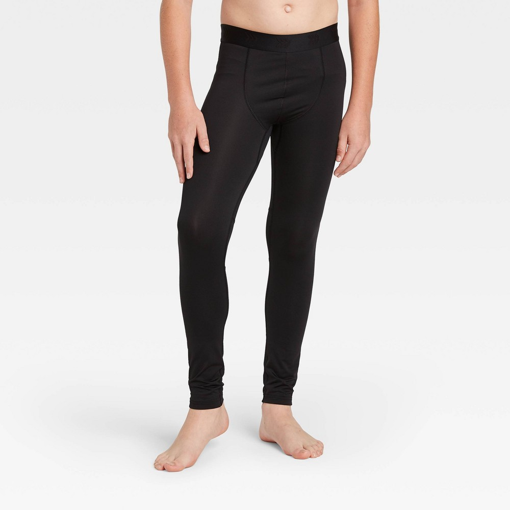 Boys' Fitted Performance Tights - All in Motion Black XXL was $18.0 now $9.0 (50.0% off)