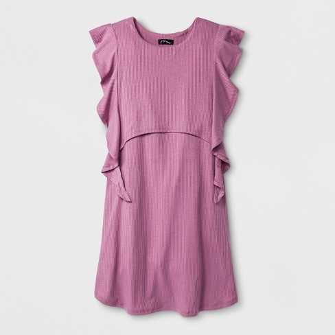 Girls' Flutter Dress- art class™ Purple - image 1 of 2