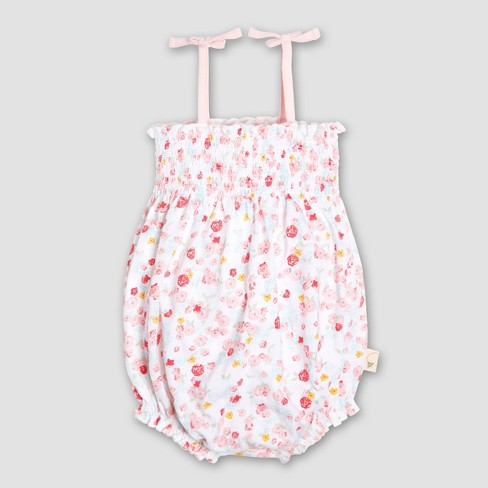 1f0f552b5033 Burt s Bees Baby Girls  Organic Cotton Ditsy Floral Bubble Romper - Pink