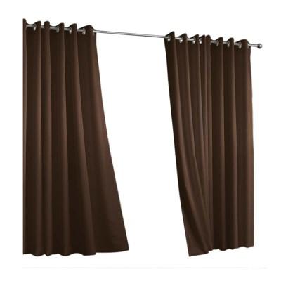 Outdoor Decor Gazebo Solid Grommet Top Window Panel Chocolate