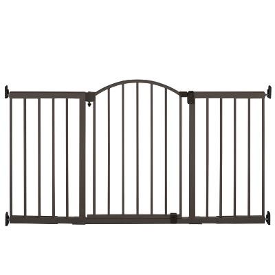 Summer Infant Decorative Wood & Metal 5 Foot Pressure Mounted Gate - Slate Grey and Wood