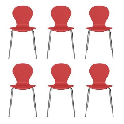 Set of 6 Saladin Mid-Century Modern Armless Dining Chairs - Handy Living