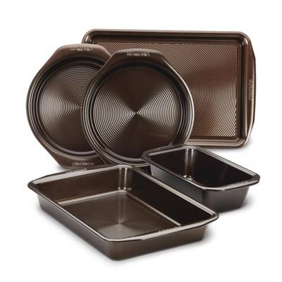 Circulon 5pc Nonstick Bakeware Set Chocolate Brown