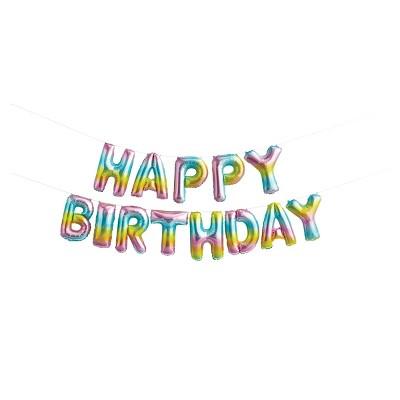 Happy Birthday Pastel Rainbow Balloons - Spritz™