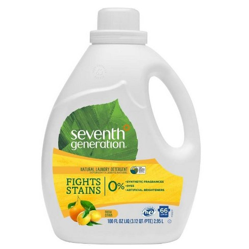 Seventh Generation Fresh Citrus Natural Laundry Detergent - 100 fl oz - image 1 of 4