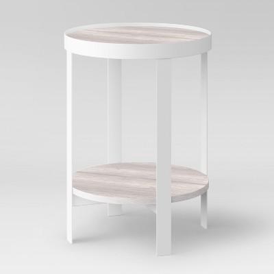Riehl Metal Round Accent Table White - Project 62™