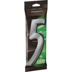 Wrigley's 5 Spearmint Rain Sugarfree Gum Multipack - 45ct