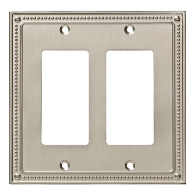 Franklin Brass Classic Beaded Double Decorator Wall Plate Nickel