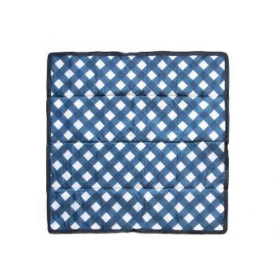 Little Unicorn 5 x 5' Outdoor Blanket - Navy Plaid