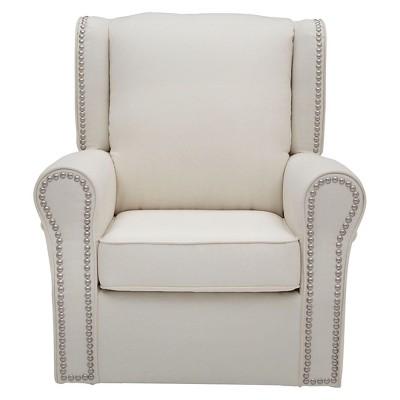 Delta Children Middleton Nursery Glider Swivel Rocker Chair – Cream