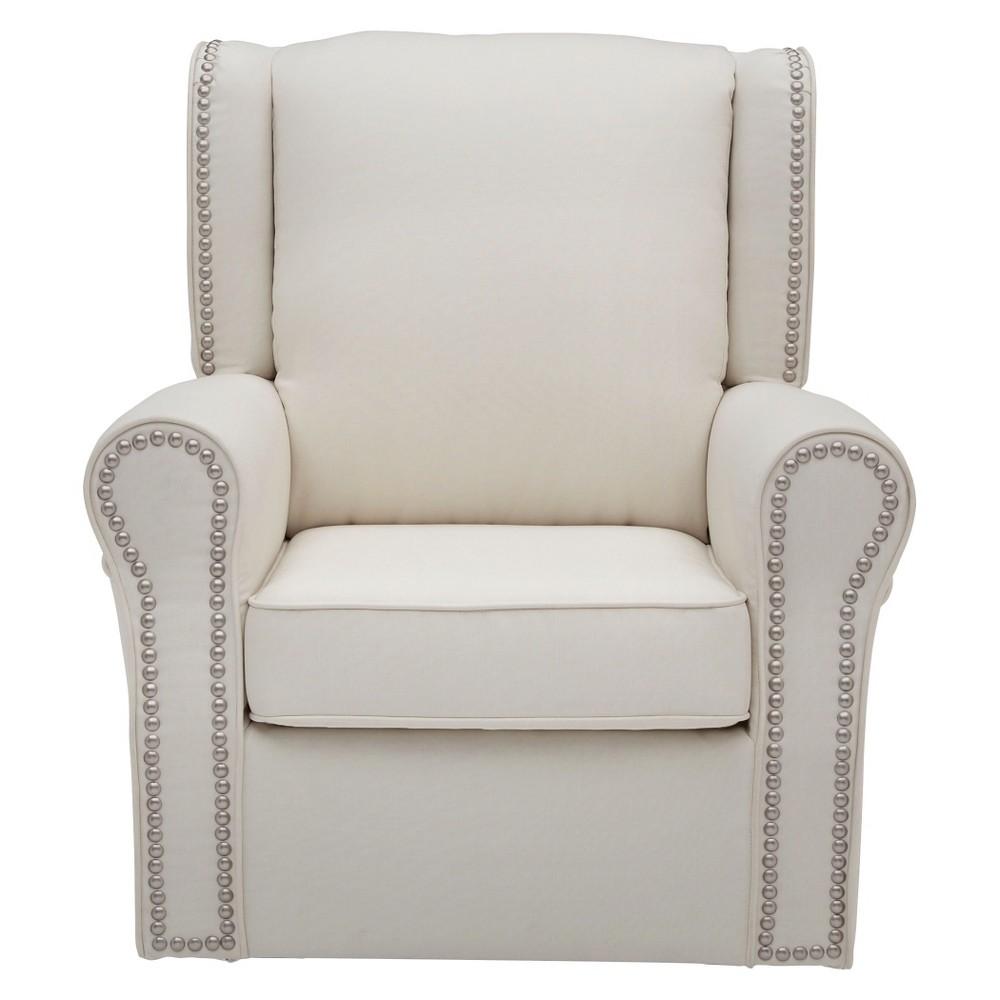 Delta Children Middleton Nursery Glider Swivel Rocker Chair – Cream (Ivory)