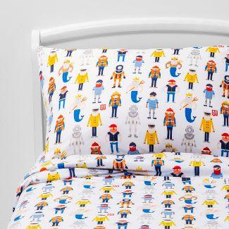 4pc Full Maritime Mates Microfiber Sheet Set - Pillowfort™