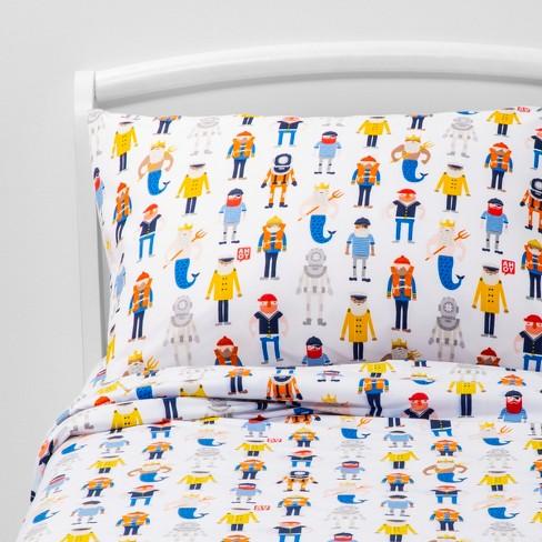Maritime Mates Microfiber Sheet Set - Pillowfort™ - image 1 of 4
