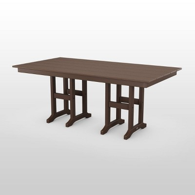 Lakeside 37' x 72' Rectangle Farmhouse Dining Table - POLYWOOD