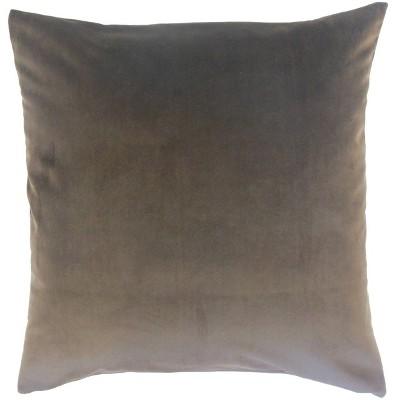 Square Throw Pillow Dark Gray - Pillow Collection