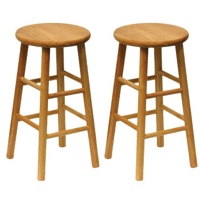 24  Tabby 2pc Bar Stool Set - Natural - Winsome