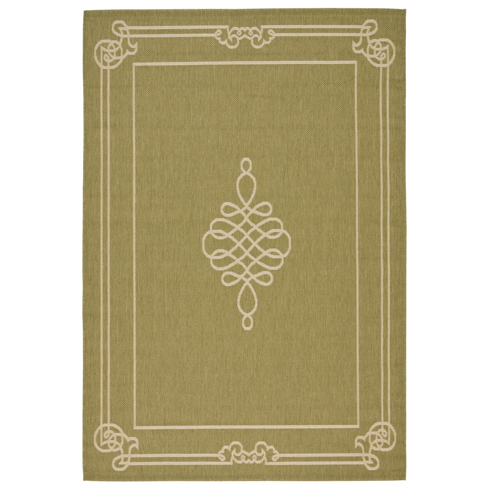Talence Rectangle 8'X11' Outdoor Patio Rug - Green / Creme - Safavieh, Green/Creme