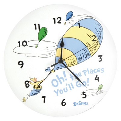 Dr. Seuss Oh the Places Wall Clock White - Trend Lab®