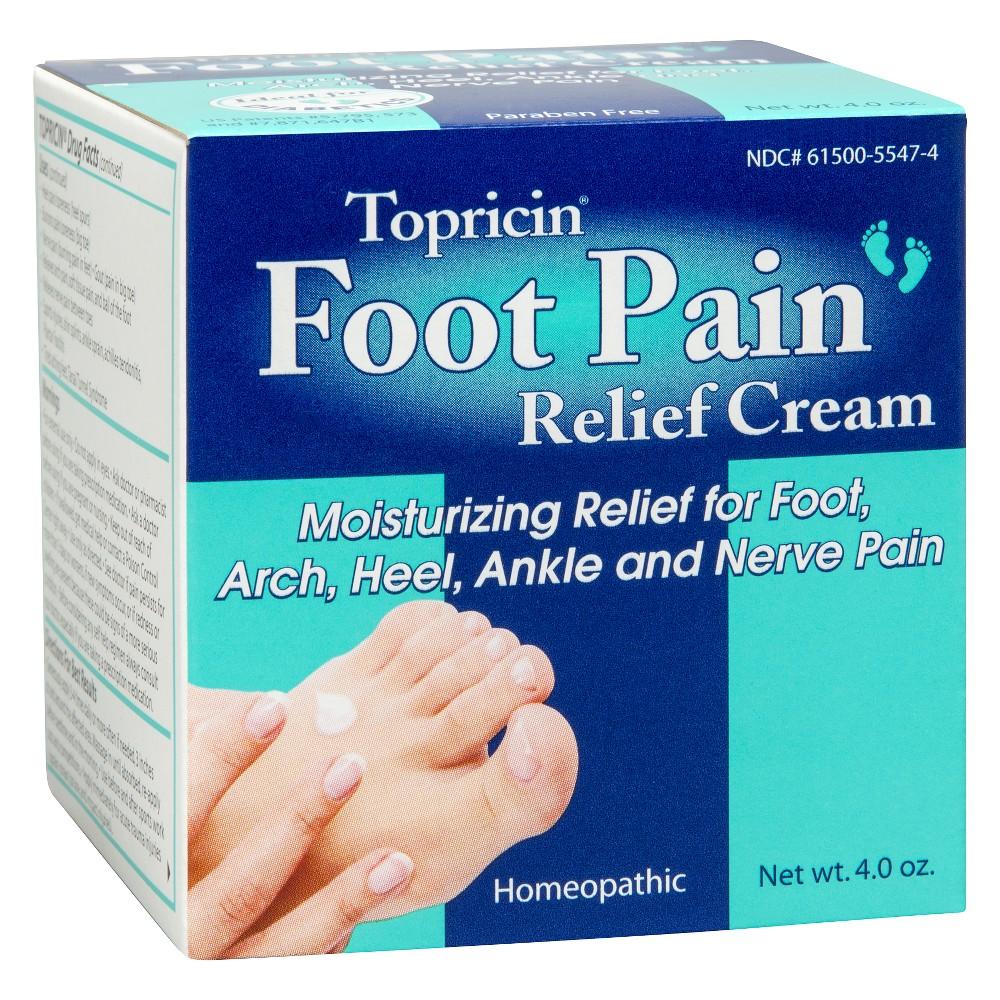 Topricin Foot Pain Relief Cream - 4oz