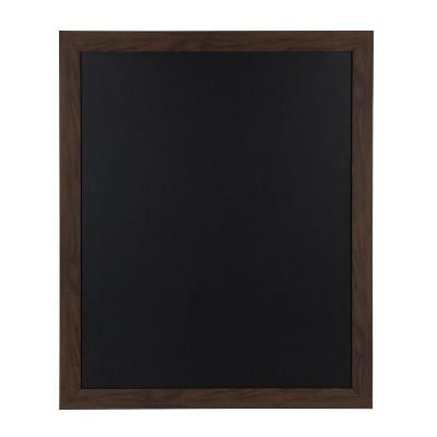 """33"""" x 27"""" Beatrice Framed Magnetic Chalkboard Walnut Brown - DesignOvation"""