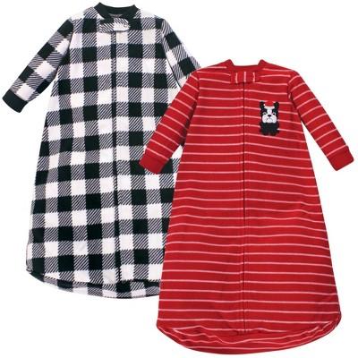 Hudson Baby Unisex Baby Long-Sleeve Fleece Sleeping Bag - Christmas Dog 0-9M