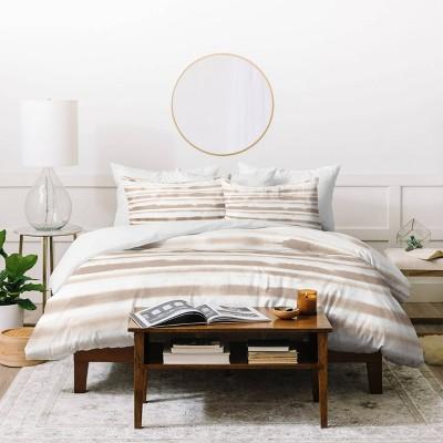 Jacqueline Maldonado Watercolor Stripes Duvet Set - Deny Designs