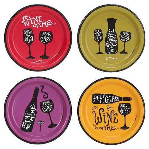 32ct Wine Time Assorted Plates - image 1 of 1