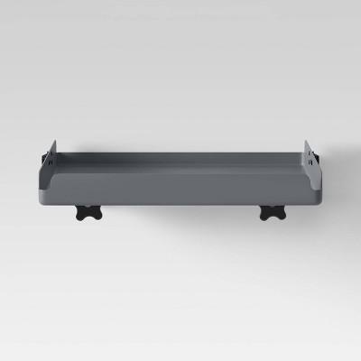 Fold Down Loft Tray Nightstand Dark Gray - Room Essentials™