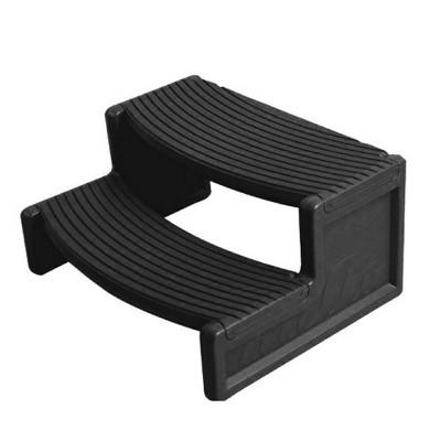 Confer Plastics Resin Multi Purpose Spa and Hot Tub Handi-Step Steps, Black