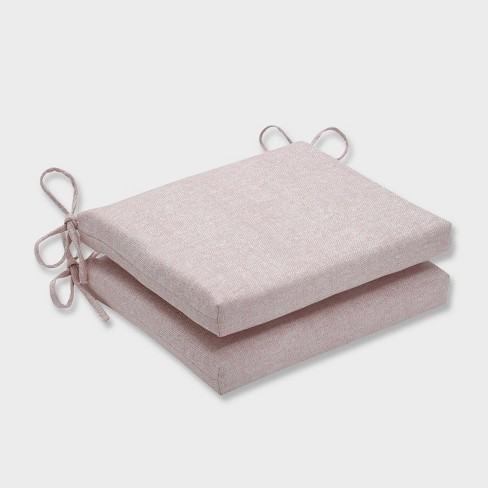 2pk Chartres Rose Squared Corners Outdoor Seat Cushions Pink - Pillow Perfect - image 1 of 1