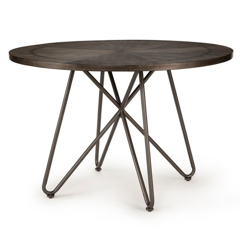 Derek Round Dining Table Gray/Black - Steve Silver - image 1 of 4