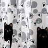 "72""x72"" Striped Bear Shower Curtain Gray/Black - Lush Dcor - image 3 of 4"