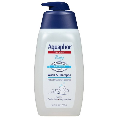 Aquaphor Baby Wash and Shampoo - Tear-free and Mild for Sensitive Skin - 16.9oz. Pump Bottle - image 1 of 2