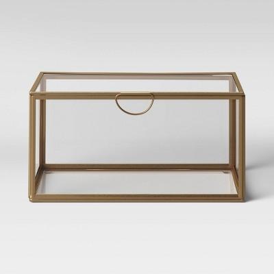 """4"""" x 8"""" Decorative Metal/Glass Box - Opalhouse™"""