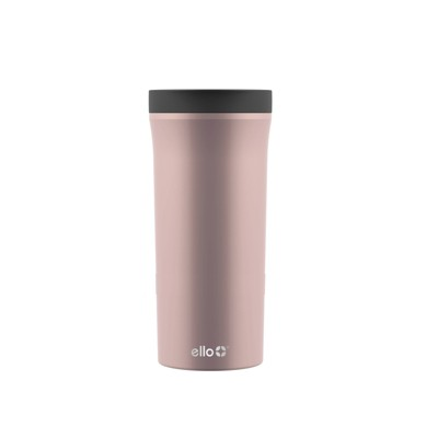 Ello Arabica 14oz Vacuum Insulated Stainless Steel Travel Mug - Rose Gold