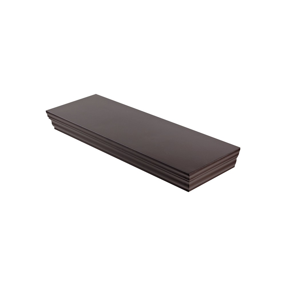 "Image of ""24"""" x 8"""" x 1.75"""" Profile Board Wall Shelf Espresso - Dolle Shelving, Brown"""