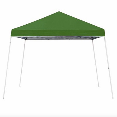 Z-Shade 10 x 10 Foot Angled Leg Instant Shade Outdoor Canopy Tent Portable Gazebo Shelter for Camping or Backyard Grilling, Green