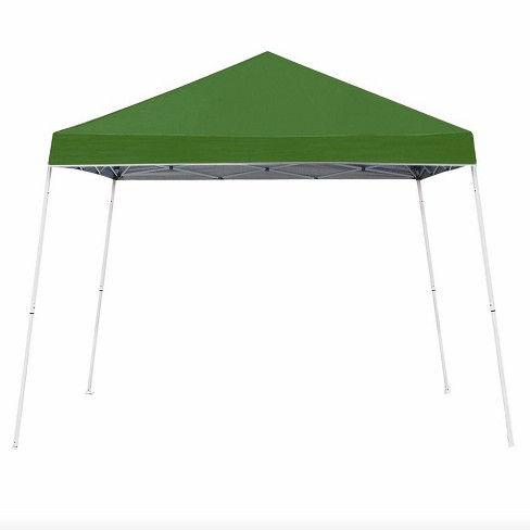 Z-Shade 10 x 10 Foot Angled Leg Instant Shade Outdoor Canopy Tent Portable Gazebo Shelter for Camping or Backyard Grilling, Green - image 1 of 2