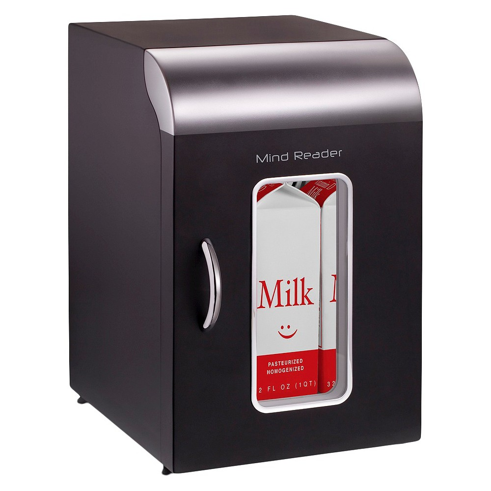 Mind Reader Cube Mini Refrigerator - Black The Cube brings new meaning to the mini-fridge! Perfect for offices – or even home use – this little refrigerator is the perfect size for small containers of milk or other items you want to keep cold and close at hand. Color: Black.