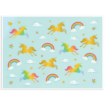 Photo Backdrop - Pride Rainbow Unicorn Photo-Booth Background for Kids Unicorn Birthday Parties, Teal Photography Background, 5x7