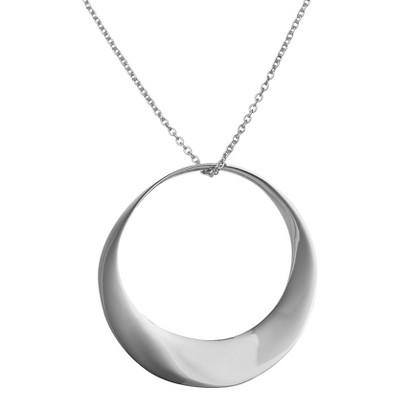 "14mm Open Circle Pendant (16"")"