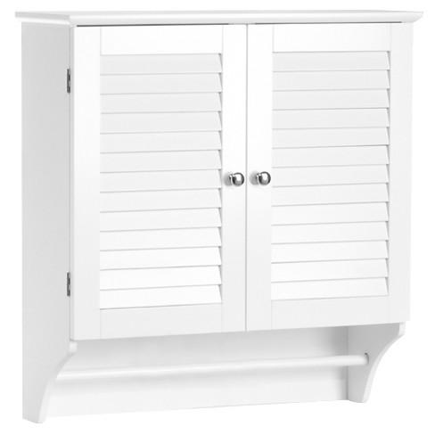 Ellsworth 2 Door Wall Cabinet White Espresso Riverridge