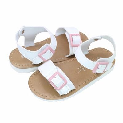 Nicole Miller Toddler Girls' Patent Hardsole Sandals