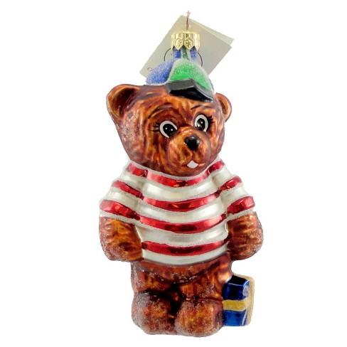 Christopher Radko Cubbys Gift Ornament Teddy Bear Christmas - image 1 of 2
